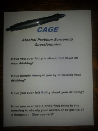 alcohol problem screening questionnaire