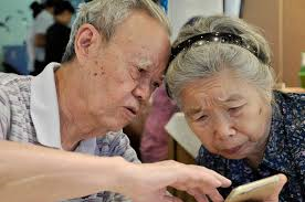 older couple working together